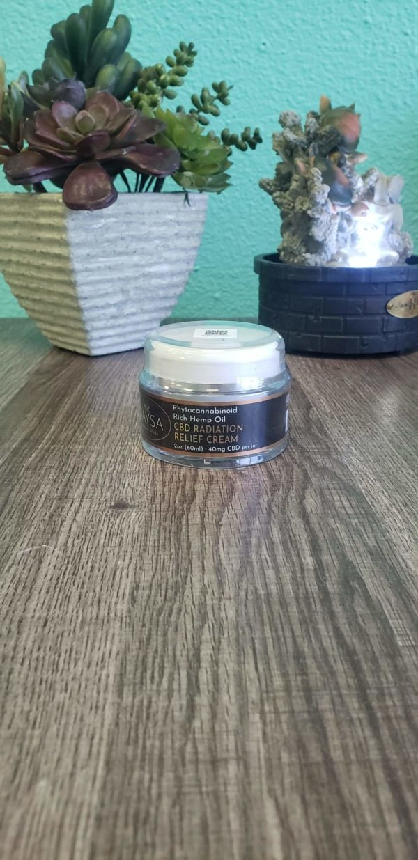 Radiation relief cream! Has 40mg of CBD. This product is specifically made for repairing your skin from any kind of radiation damage. Whether it be from the sun or from undergoing radiation treatment, help get your skin back to its natural state!