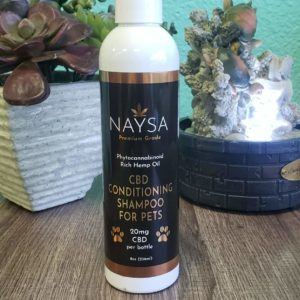 "CBD conditioning shampoo for all pets. If your animal has a skin condition or allergies, then this can help! It will help regulate nee skin cell growth, help with balding spots, can help prevent shedding and heal ""hot spots!"""